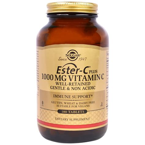 solgar ester c plus vitamin c 1 000 mg 180 tablets