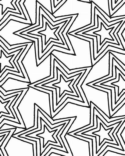 Coloring Pages Star Pattern Printable Adults Adult