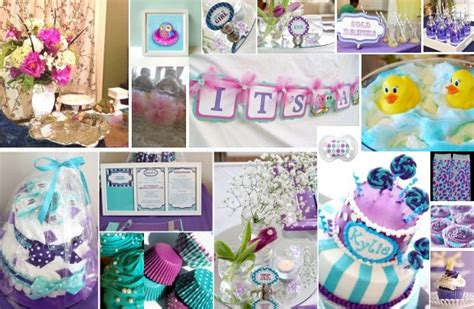 Purple And Teal Baby Shower Decorations by Purple And Teal Baby Shower Ideas Add Some Yellow And A
