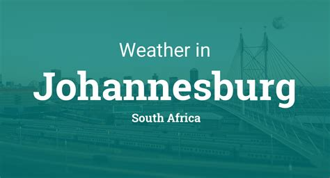weather  johannesburg south africa