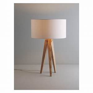 tripod ash wooden tripod table lamp base buy now at With wood tripod floor lamp with glass tray table
