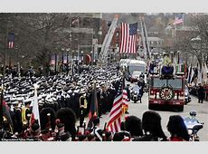 Thousands attend funeral for Boston firefighter Lt Edward Walsh Daily Mail Online
