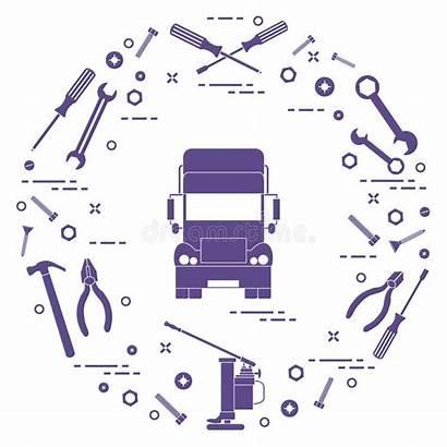 Jack Hammer Cars Screws Truck Repair Wrenches