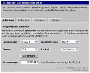Downloadzeit Berechnen : geldanlage entnahmerechner bei freeware ~ Themetempest.com Abrechnung
