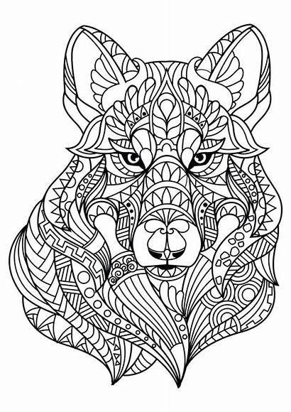Coloring Pages Abstract Animal Mandala Printable Getcolorings
