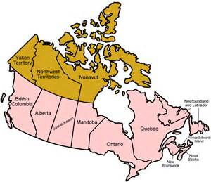 Canada Map Canadian Provinces
