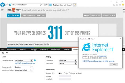 internet explorer changing agent support ie11 poor string