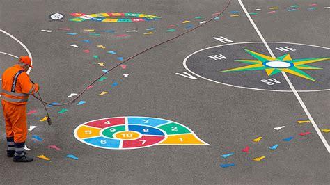 aire de jeux pour enfants jeux educatifs jeux d 233 cole marquage au sol thermocoll 233