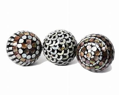 Nacre Ceramic Decorative Inlay Designs Orbs Balls