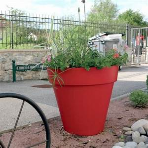 Grand Pot De Fleur Interieur : grand pot fleur rond g ant riviera soleilla 70 rouge ~ Premium-room.com Idées de Décoration