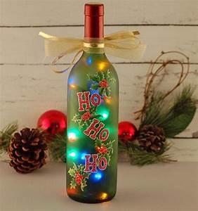 Lighted Wine Bottle Stoppers Ho Ho Ho Wine Bottle Light A Reclaimed Wine Bottle Was