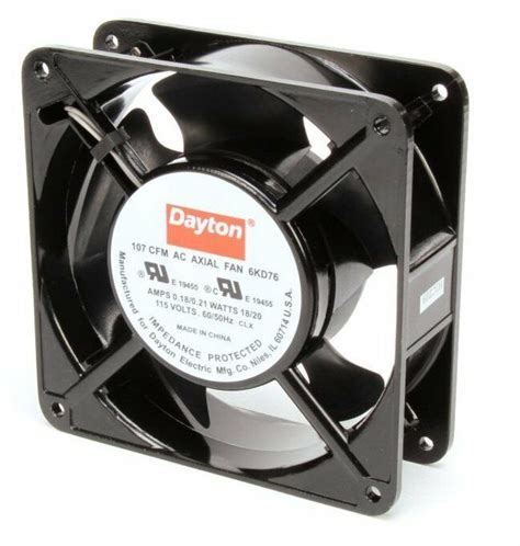 dayton axial fan 115 volts ac watts 107 cfm