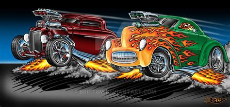 dragracebybrittmdeviantartcomonatdeviantart racing art cartoon car drawing
