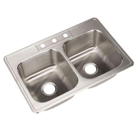 home depot deep sink houzer glowtone series drop in stainless steel 33 in 3