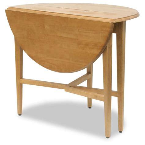"Winsome Light Oak Round 42"" Drop Leaf Gate Leg Table"