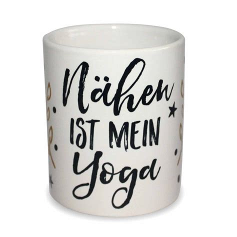 tasse naehen ist mein yoga exklusivdesign