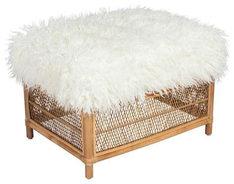 faux fur storage ottoman society social faux mongolian lamb fur ottoman large