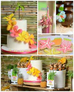 rustic bridal shower ideas kara 39 s party ideas hawaiian luau themed birthday party