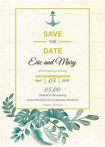 nautical save the date card template in psd word With publisher save the date templates