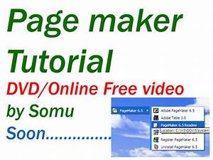 Somu Colors  Page Maker Telugu Tutorial Dvd   Free Online Video Soon