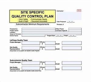 13  Quality Control Plan Templates