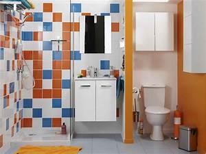 bien amenager une petite salle de bains leroy merlin With amenager une salle de bain
