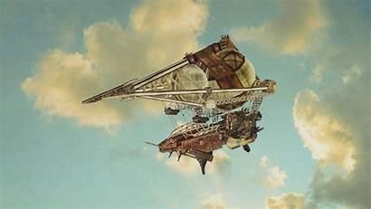 Airship Icarus Guns Steampunk Dieselpunk Fantasy Rpg