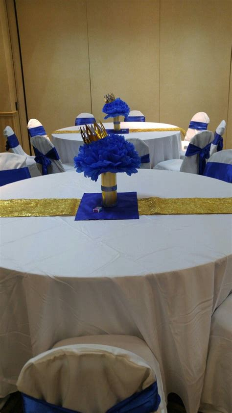 prince baby shower centerpieces send royal