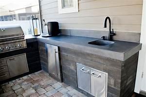 Concrete, Outdoor, Kitchen, -, Modern, -, Patio