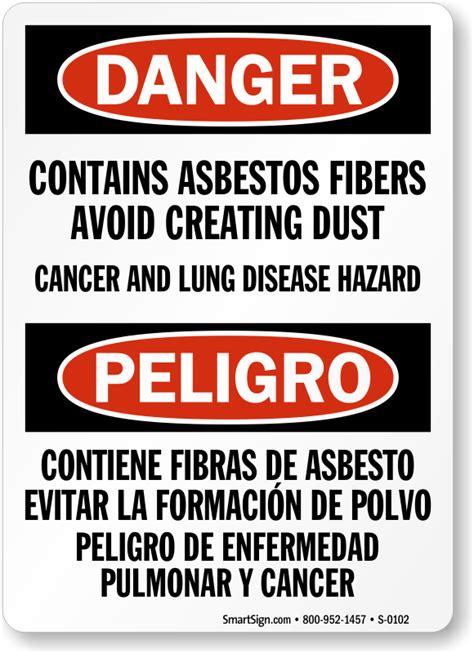 asbestos warning signs mysafetysigncom