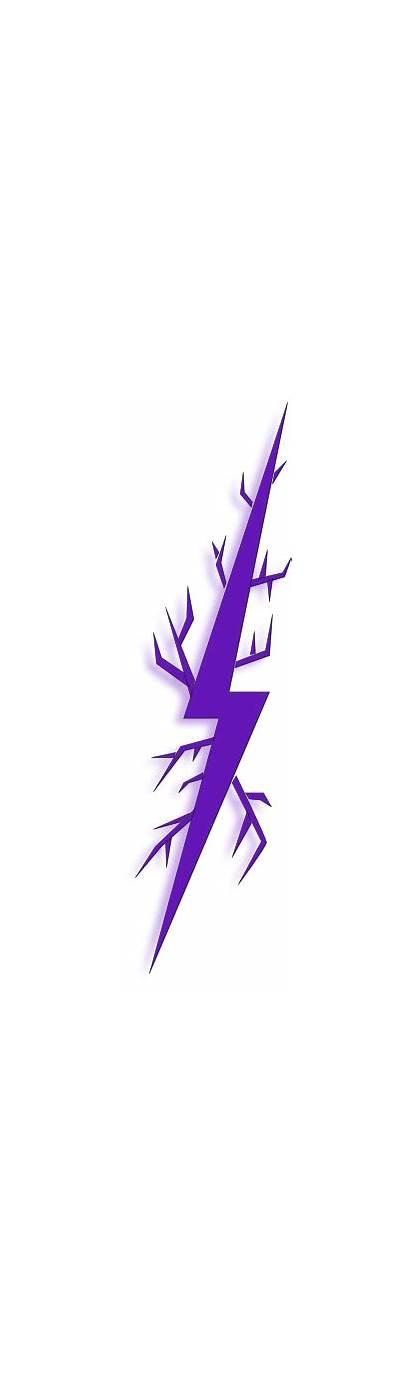 Lightning Purple Bolt Deep Clip Clipart Clker
