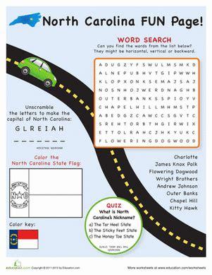 carolina facts worksheet education 438 | north carolina fun facts geography