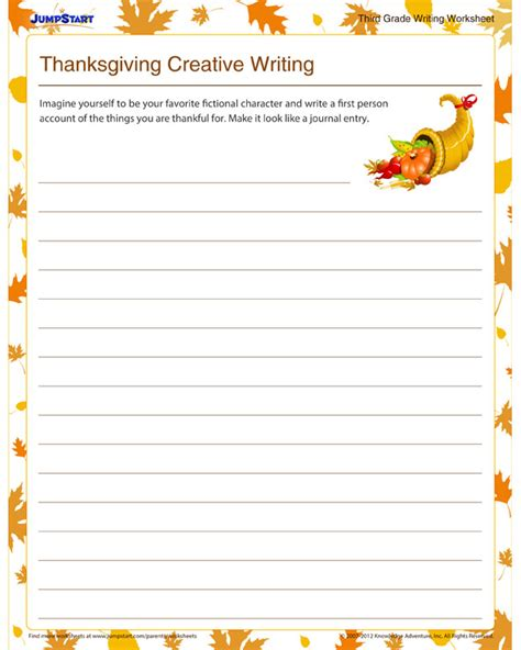 thanksgiving creative writing view  composition