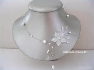 collier pour mariage bijoux mariage pas cher collier fantaisie blanc fleur étoilée