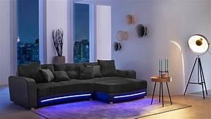 Couch Mit Led Und Sound : wohnlandschaft laredo sofa schwarz mit led und soundsystem ~ Bigdaddyawards.com Haus und Dekorationen