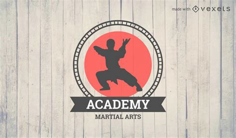 martial arts logo badge maker editable design