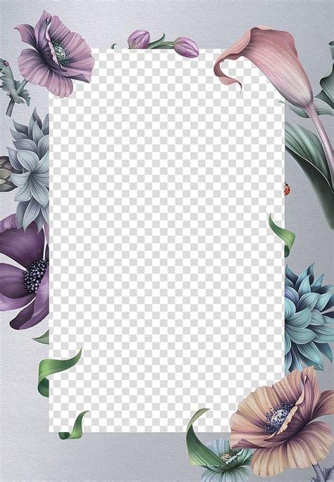 pink  purple floral margin wedding invitation