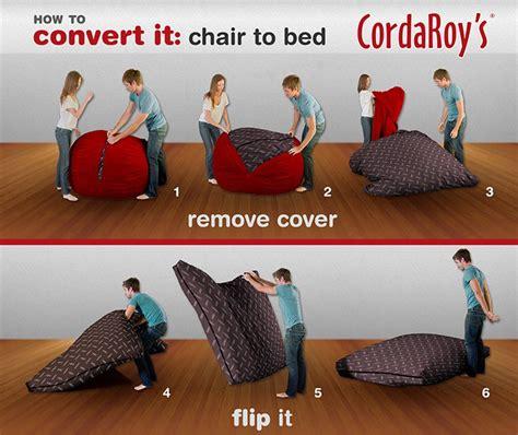 Cordaroys Bean Bag Chairs by Cordaroy S Corduroy Beanbag Chair Sleeper Ebay