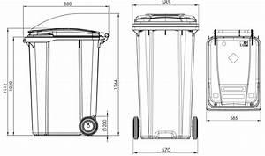 360l Plastic Wheelie Bin