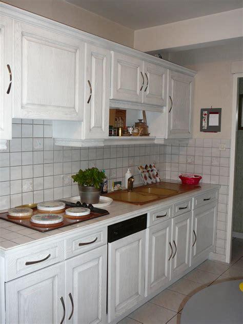 cuisine ceruse davaus cuisine en chene ceruse blanc avec des