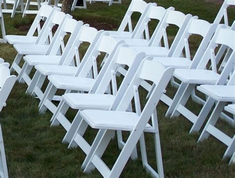rental chair white resin padded garden wallace events