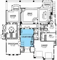 courtyard house plans Plan 16359MD: Central Courtyard   Florida houses, House ...