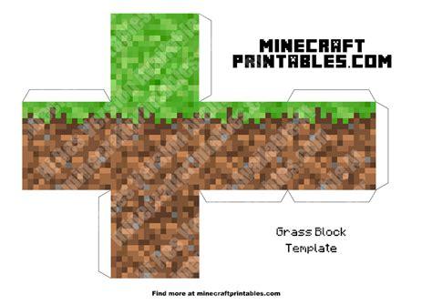 Minecraft Grass Block Printable Papercraft