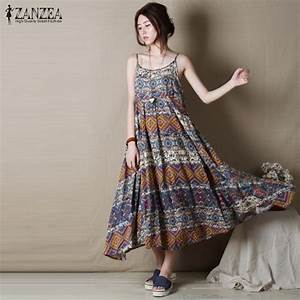 0f28df2dbeb5 boho maxi dress vintage bohemian style loose casual sleeveless dress green  girl style