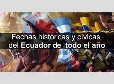 Fechas históricas y cívicas del Ecuador de todo el año PDF
