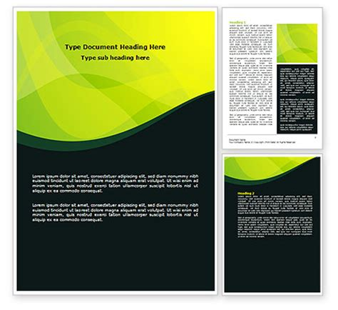 word template design green leaf design word template 07623 poweredtemplate
