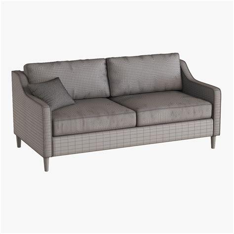 west elm paidge sofa 3d model max obj fbx cgtrader com