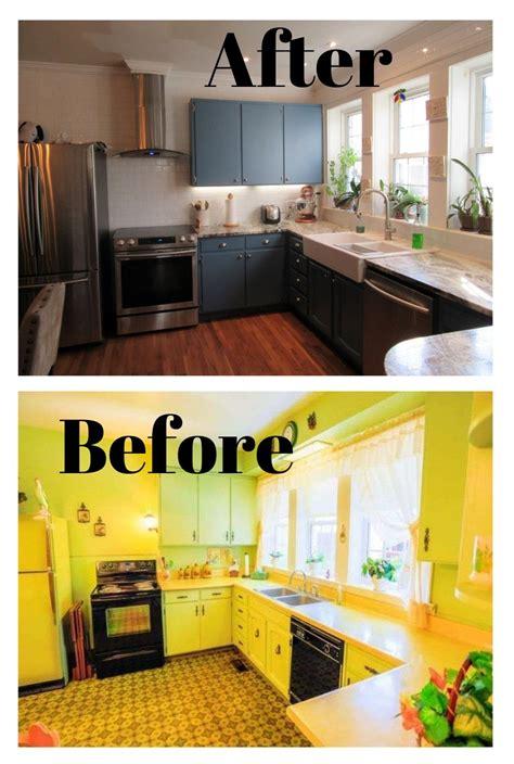 bountiful blue painted kitchen cabinets