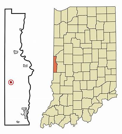 County Indiana Vermillion Unincorporated Incorporated Highlighted Areas