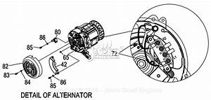 Generac 0057980  Xg7000e  Parts Diagram For Detail Of Alternator
